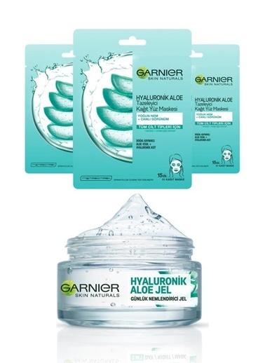 Garnier Garnier Hyaluronik Aloe Jel Krem 50 Ml+Hyaluronik Aloe Maske X3 Renksiz
